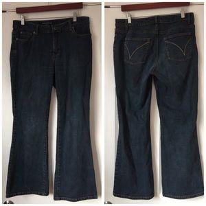 PETITE SOPHISTICATE denim blue jeans boot cut 10 P